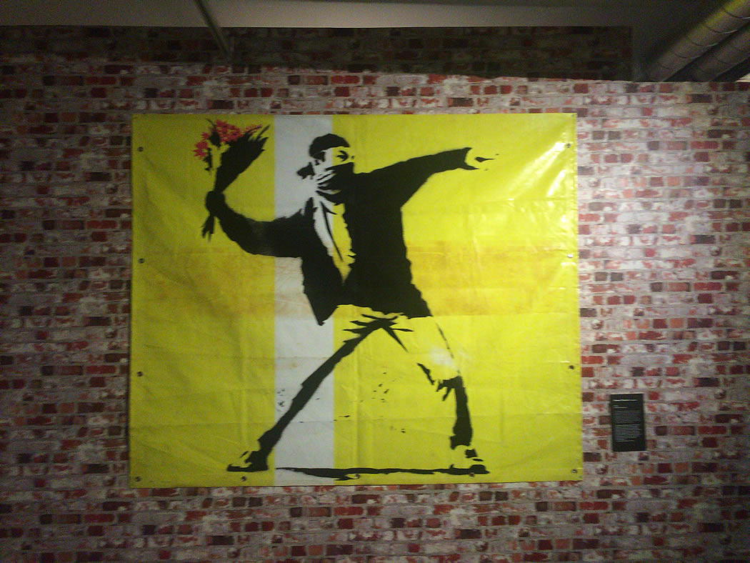 Banksy 'Flower Thrower'
