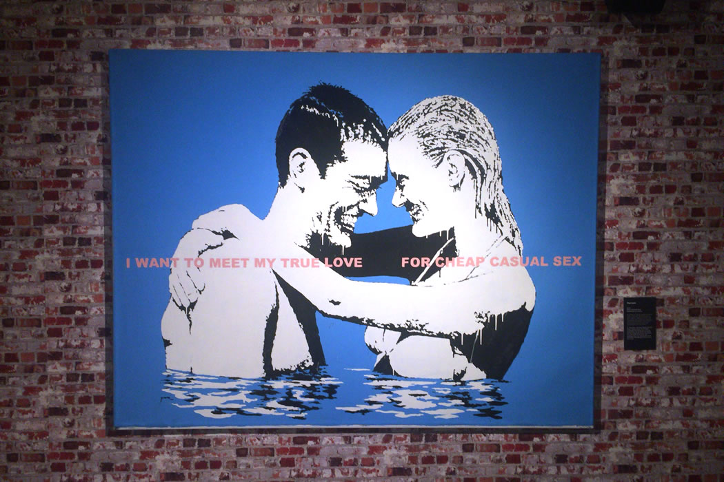 Banksy 'True Love' キャンバス