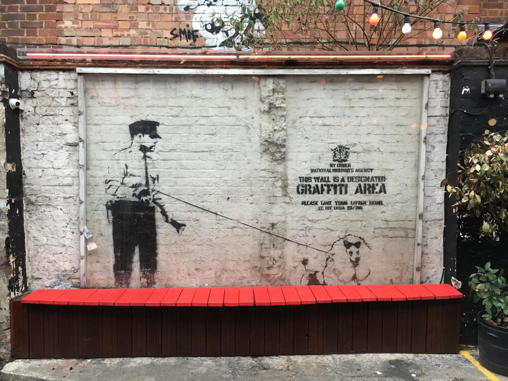 2017年最新版、ロンドンで今見られるBanksy(バンクシー) のミューラル(壁画)