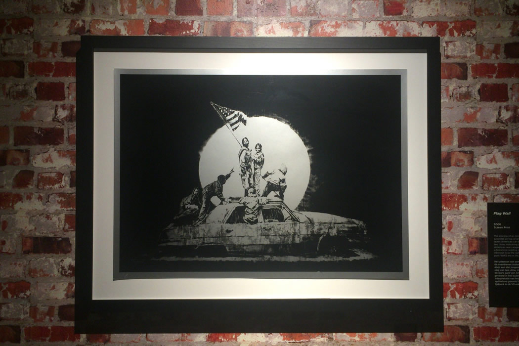 Banksy 'Flag' 額装プリント