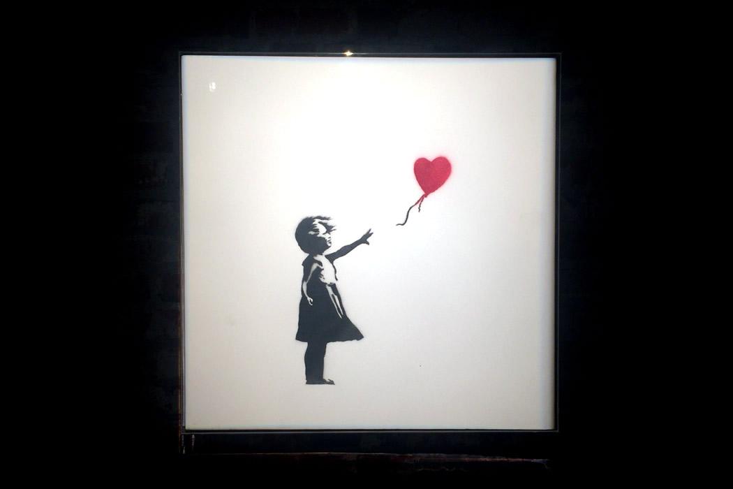 Banksy 'Girl and Balloon' キャンバス作品