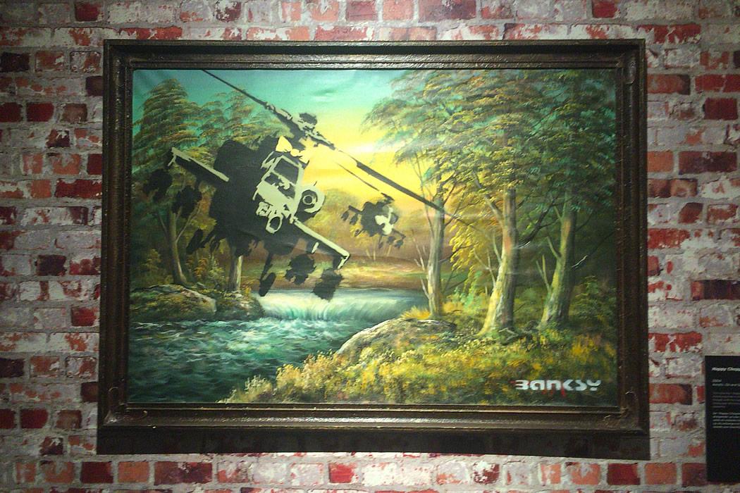 Banksy 'Hhappy Chopper Crude Oil'