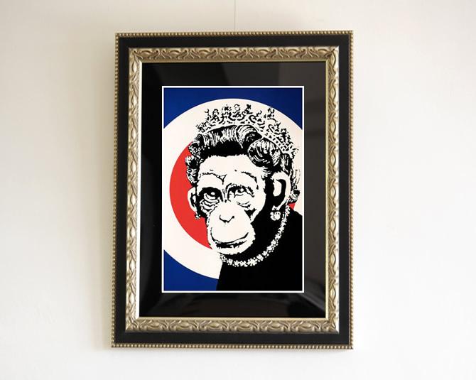 Banksy -Monkey Queen
